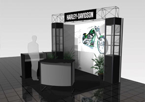 location de stand d'exposition harley